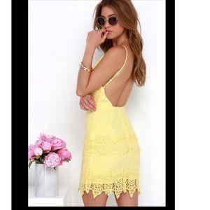 🆕✨Lulus Lace backless dress